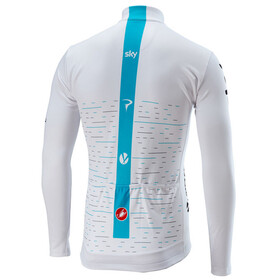 Castelli Team Sky Thermal Fietsshirt lange mouwen Heren wit